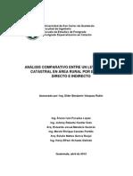 Analisis Comparativo Entre El Metodo Indirecto Vrs Directo Catastro
