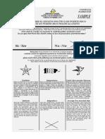 Consulta sobre el estatus político de Puerto Rico - Papeleta modelo - Mi voto