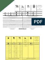 Papeletas modelo de las elecciones generales 2012 *como votaré*