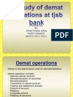 A Study of Demat Operations at Tjsb Bank