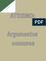 Ateismo argumentos comunes