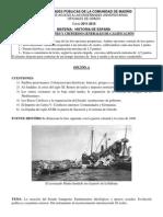 El Examen de PAU de HISTORIA DE ESPAÑA de septiembre de 2012 . Selectividad de la Comunidad de Madrid.