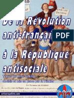 De La Révolution Anti-française La république Antisociale