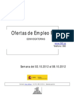 Boletin Semanal Empleo Publico. Semana Del 02.10.2012 Al 08.10