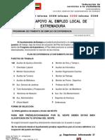 Ni Plan de Apoyo Empleo Local Badajoz