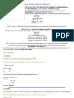 EXERCÍCIOS -  Razao e Proproção, Regra de três simples e composta