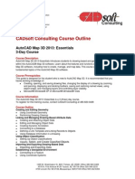CADsoft Consulting Course Outline - AutoCAD Map 3D 2013 Essentials