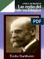 Las Reglas Del Metodo Sociologico Emile Durkheim