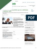 01-09-2012 El Golfo -  Catastrofe para partidos que no conforme Coalición RMV