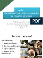 Preservação de recursos genéticos - introdução