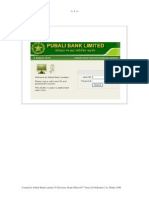 Pubali Bank Internet Banking User Manual
