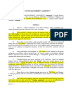 TEE Center Management Agreement 9-24.1 Highlighted