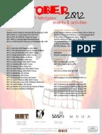 October 2012 Event Calendar