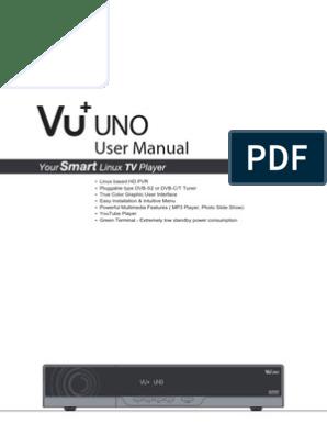 VU+ UNO Manual | Hdmi | Smart Card