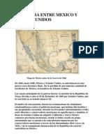 La Guerra Entre Mexico y Estados