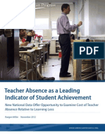 Teacher Absence as a Leading Indicator of Student Achievement