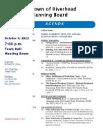 Riverhead Planning Board Agenda Oct 4 2012