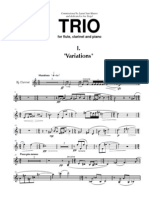 JEFF MANOOKIAN - TRIO for Flute Clarinet and Piano  - Clarinet Part - 1st Movement