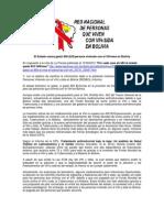 El Estado Boliviano Nunca Gasto 800 USD en Personas Viviendo con VIH y sida