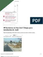 04-09-2012  Sexenio Puebla - 80 hectáreas en San José Chiapa para instalación de Audi