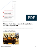 08-09-2012 Sexenio Puebla - Moreno Valle Firma Convenio de Agricultura Con KM Capital SAPI