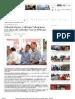 11-09-2012 Puebla Online - Eduardo Rivera y Moreno Valle Juntos Por Obras Del Corredor Fuertes-Catedral