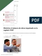 11-09-2012 Sexenio Puebla - Histórico el número de obras impulsado en la capital_ FMP