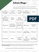 DebateFest Bingo 13