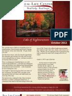 October Newsletter 2012