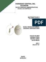 Matemaricas II