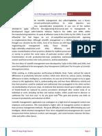 Development of Management Thought Unit III