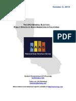 2012 National Asian American Survey - California