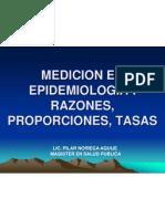 MEDICION EN EPIDEMIOLOGIA Razòn , Tasa, Prop.clas-5