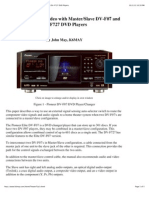Using Component Video With Master:Slave DV-F07 and DV-F727 DVD Players