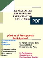 Ley Marco Del Pre Supuesto Participativo