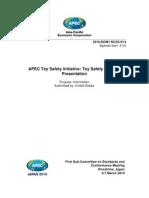 Toy Safety Standard - Final Apec Survey Results 3-2010