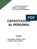 MONOGRAFIA Capacitacion Del Personal
