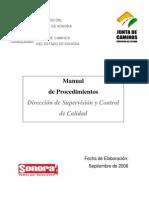 Manual de procedimientos Supervisión y Control de Calidad