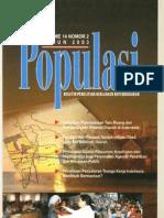 Populasi Volume 14, Nomor 2, Tahun 2003
