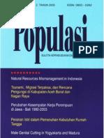 Populasi Volume 16, Nomor 2, Tahun 2005
