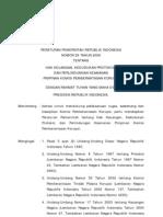 2006-Pp No 29 Th 2006 Ttg Hak Keuangan, Kedudukan Protokol, Dan Perlindungan Keamanan Pimpinan Komisi Pemberantasan Korupsi