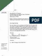 County Response to Orange County Grand Jury Report