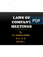 Laws of Company Meetings