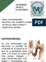 Diapositivas de La Osteoporosis[1]