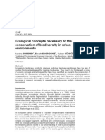Ecological concepts necessary to the conservation of biodiversity in urban environments