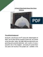Breif Biography of Hazrat  Khaja Bande Nawaz Gesu Daraz Gulberga