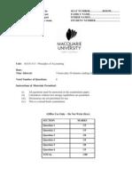 Sample of Final Exam