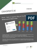 Leseprobe eBook Geld Verdienen Mit Blogs