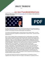 Obama v Romney Tense US Presidential Debate Looms
