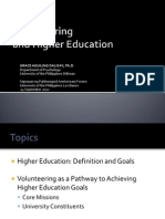 Volunteering and Higher Education
